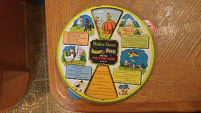 Mother Goose Reading Wheel and the Tell-A-Time Clock (On Other Side)