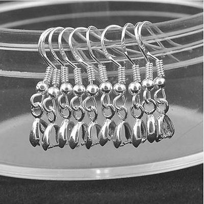 Sterling Silver 925 Earring Ear Fish Hook ball Wires Good Quality 4 Pics 2 Pairs