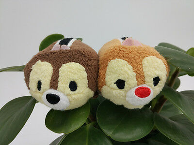 2pcs Disney Store Tsum tsum Chipmunks Chip & Dale Mini Plush toy kids gift new