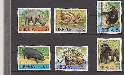 Liberia  -  Complet Set  -  African Animals