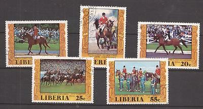 LIBERIA  -  COMPLET SET  -  Equestrian gold medal winners in Montreal