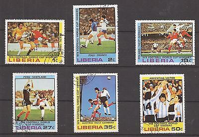 Liberia  -  Complet Set  - World Cup Soccer Winners