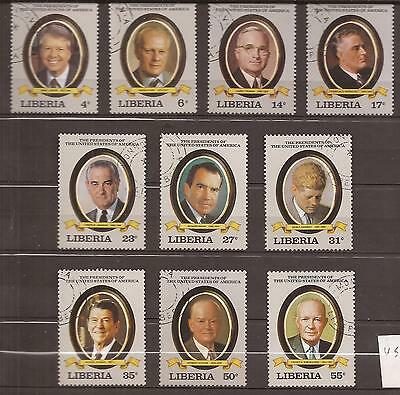 LIBERIA  -  COMPLET SET  -  UNITED STATES PRESIDENTES  ref2