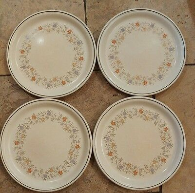 4 Vintage Bhs Country Garland Dinner Plates