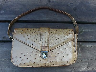Vintage OSTRICH leather Purse by CORBEAU .S Africa