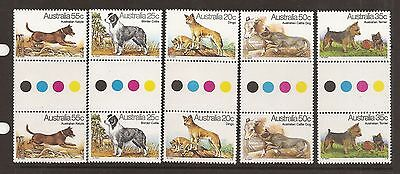 Australia 1980 Dogs sg 729-33 . Traffic light pairs. Unmounted mint.