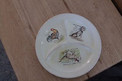 Vintage   Roma   divided   childs   plate    This is the cat