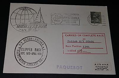 GB special handstamp cover - Clipper Race Sept 1973-April 1974 (carried on race)