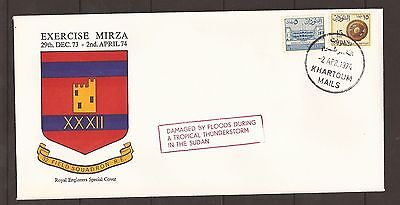 GB fdc 1974 Exercise Mirza- Royal Engineers Special Cover. BFPS