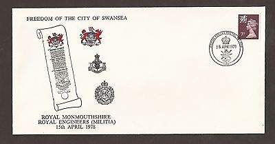 GB fdc 1978 Freedom of the City of Swansea. BFPS Cover. Royal Engineers