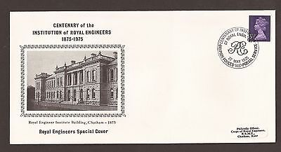 GB fdc 1975 Institution Centenary- Royal Engineers Special Cover. BFPS