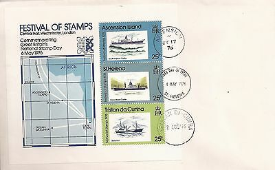 Ascension Island,St Helena,Tristan da Cunha 1976 Festival of Stamps cover