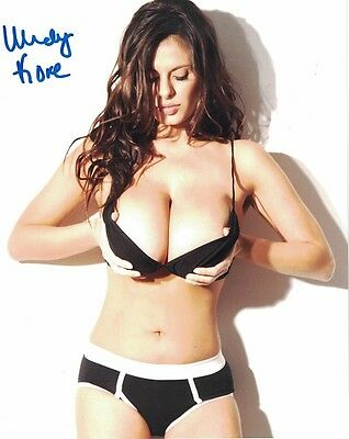 Wendy Fiore Autograph Signed Photo 8x10 #54 Busty Glamour Model Chicago