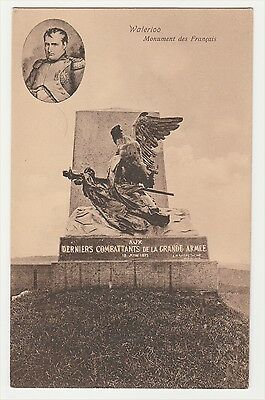 Waterloo. The Wounded Eagle Monument Des Francais With Picture Of  Napoleon.
