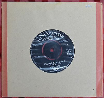 "Jim Reeves – Welcome To My World 7"" – RCA 1342 – VG   BUY 2+ for 25% OFF"