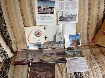 Vintage Nuclear Power Plant Architectural Drawings Documents Photos Pamphlets