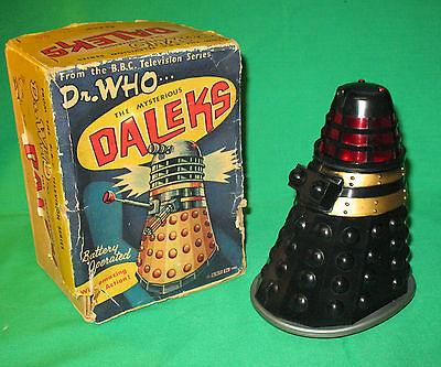 V rare: Marx robot action Dalek 1965. BOXED. OFFERS CONSIDERED. % to charity do!