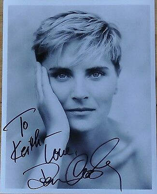 DENISE CROSBY PERSONALLY SIGNED 10x8 B&W PHOTOGRAPH STAR TREK