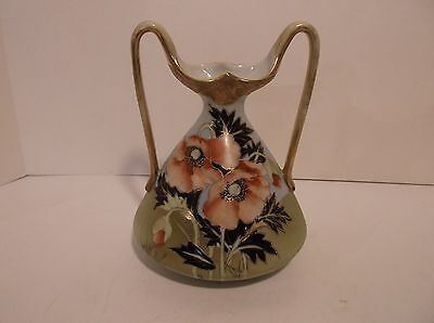 Antique Nippon Moriage Applied Gold Beading Vase