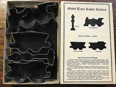 Vintage Fox Run Craftsmen Metal Cookie Cutters Model Train Hand Crafted (4)