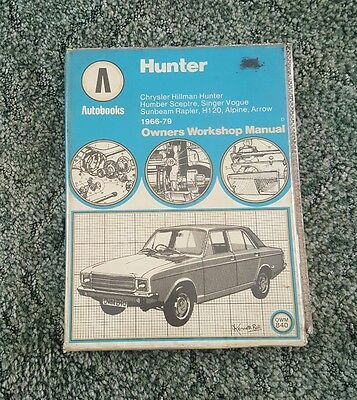 Manual Chrysler, hillman hunter humber sceptre singer vogue sunbeam rapier H120