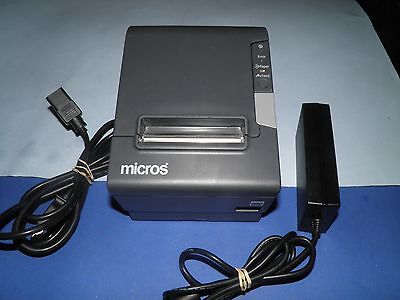 Micros Epson TM-T88V M244A Thermal POS Receipt  Printer with Power Supply IDN