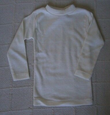 Vintage Baby Long Sleeve Top - Age 18-24 months - Cream Acrylic - New