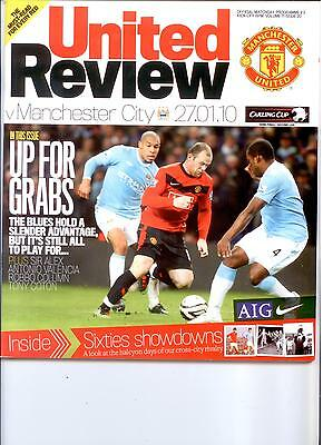 MANCHESTER UNITED v MANCHESTER CITY (LG CUP SEMI FINAL) 2009/10