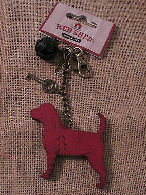 Red Shed: Red Dog Keychain/ Ornament ..new... Awesome Style