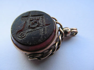 Antique masonic watch fob, stamped 9ct