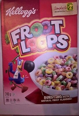 FROOT LOOPS breakfast cereal Canadian Import Kellogg's 240g Quick Delivery