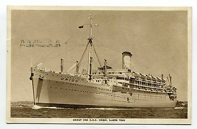 ---OQ49 shipping ORION orient line OFFICIAL 1955---