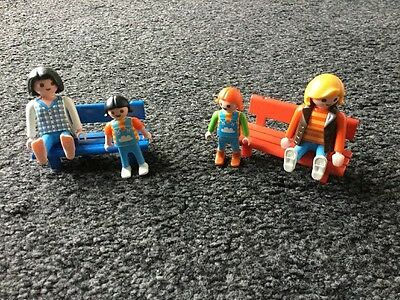 Playmobil People And Bench Bundle