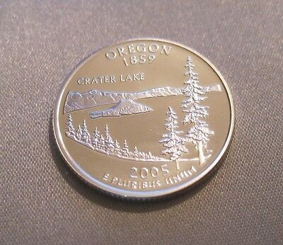 2005 S * Cameo Proof * Silver Oregon State Quarter (90% Silver) // Mc 335