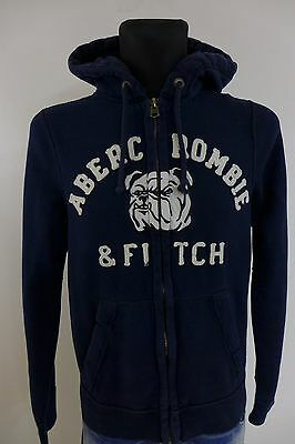 DC473 Men Abercrombie & Fitch Cotton Polyester Hooded Hoodie Jumper Size L