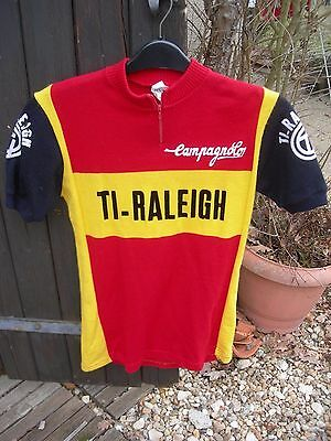 Vintage Raleigh cycling jersey , maillot vélo ancien Raleigh TI Campagnolo