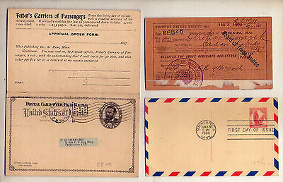 11 pcs UNITED STATES: COVERS, FIRST DAY, AIR MAIL, REGISTERED & MORE: 1897- 1960