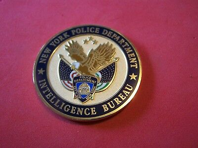 NYPD Intelligence Bureau Threat Assesment & Protection Police Challenge Coin