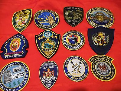12 Piece Hawaii Police Patch Collection REDUCED
