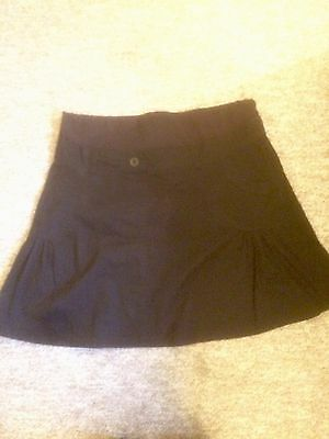 Maternity Black Flared Mini Skirt - Size 10 - Jojo Maman Bebe