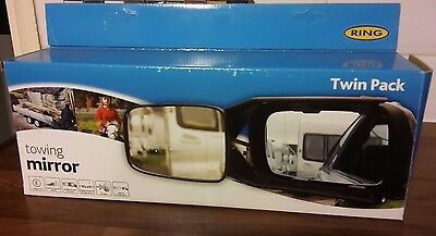 Towing Mirrors Twin Pack - Universal Adjustable Straps - New