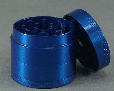 Metal Tobacco Grinder Crusher Herb Spice Smoke Cigarettes Crank Blue New