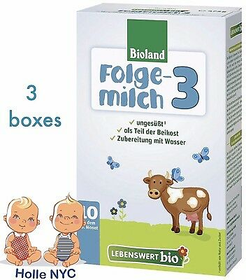 Holle Lebenswert Stage 3 Organic Baby Formula 3 Boxes 475g Free Shipping