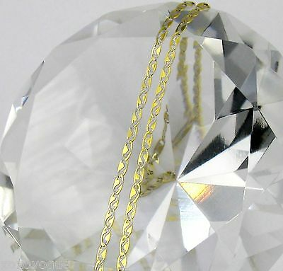 16-18-20-22 inch chain necklace 10K Solid Yellow Gold flat anchor mariner