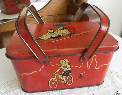 Vintage Lunch Tin Box Picnic Type Style