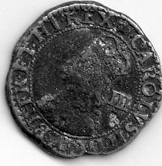 G.B. Carolus III, pewter coin, good condition.