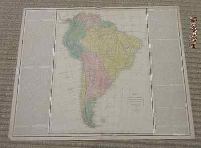 Rare handcolored map, South America, dated 1820, Lavoisne's historical atlas