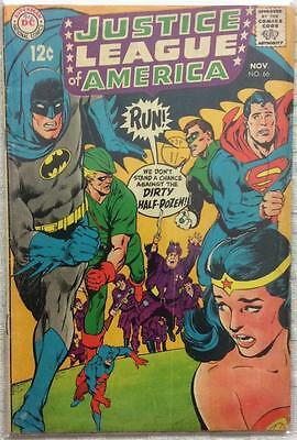 Justice League of America #66 (1968 DC 1st series) VG/FN condition 48 years old.