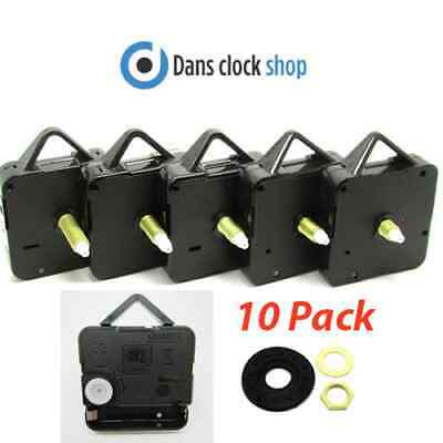 10 Pack New Quartz Clock Movements Mechanisms Motors & Fitting DIY