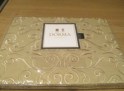 NWT Dorma Giverny Natural Oxford Pillow Case 300 Thread Count